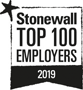 Stonewall - Top 100 employer 2019